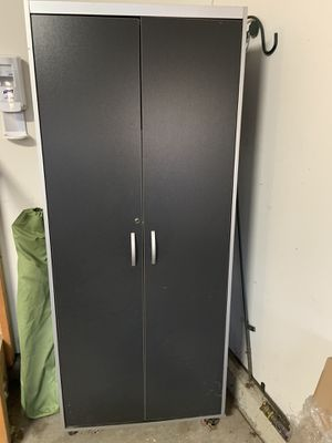 "72"" x 30"" x 20"" Garage cabinet with contents for Sale in Plainfield, IL"
