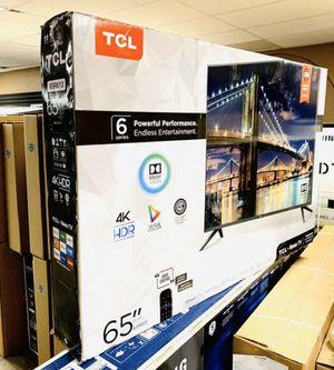 "65"" TcL roku smart 4K led uhd hdr tv 6 series for Sale in Menifee, CA"