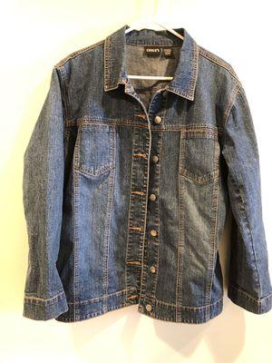 CHICOS DENIM Blue Jean Women's Jacket Coat Blazer Sz 2.0. Only worn 2x, super soft, great condition, smoke free home. for Sale in Washington, DC