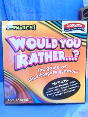 Would You Rather Board Game 2003 New for Sale in Azusa, CA