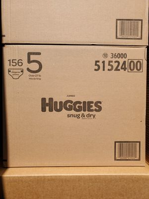 Huggies snug and dry size 5 diapers $38 each for Sale in Santa Ana, CA