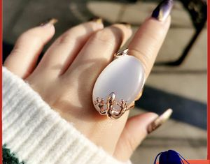 Big Oval Opal Stone Ring For Women Rose Gold Color Engagement Wedding Jewelry Bague Anel JZ010 SSB for Sale in Schaumburg, IL