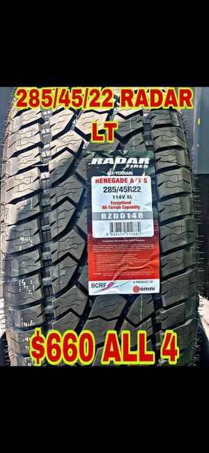 285 45 22 BRAND NEW SET OF TIRES for Sale in Mesa, AZ