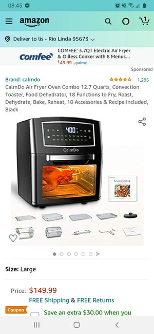 calmdo airfryer oven grill and automatic cat feeder-$65(Rio Linda) for Sale in Rio Linda, CA
