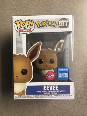 Flocked Eevee Funko Pop Pokemon Wondercon Hot Topic Exclusive 577 with protector for Sale in Addison, TX