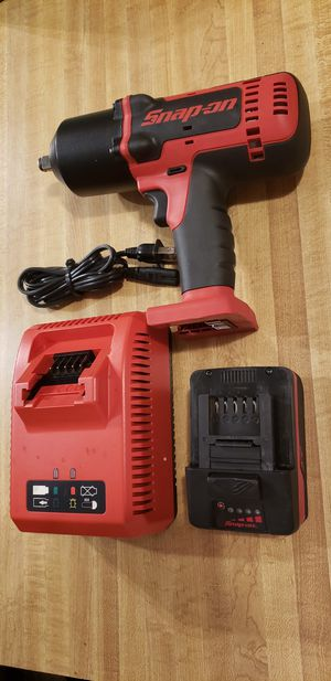 Snap-On 18v 1/2 drive Monsterlithium cordless impact wrench tool kit 🔎(like new ) for Sale in Claremont, CA