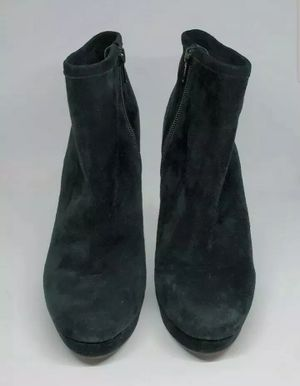 Women's Gianni Bini Ankle Boots Size 8M Suede Zip Side Black for Sale in Land O' Lakes, FL