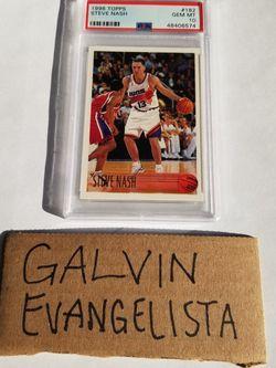1996 Topps Steve Nash RC GEM MINT PSA 10 #182 Rookie Suns NBA LOW POP VINTAGE for Sale in Union City,  CA