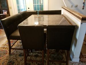 Marble kitchen table set for Sale in Bettendorf, IA