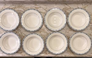Mikasa Ultima Plus Super Strong Fine China Blue Serenade Set 8 Soup Bowls HK 314 for Sale in Livermore, CA