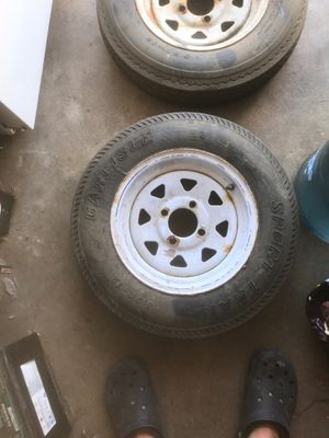 I have 2 rims an tires 4 lugs for trailer for Sale in CRYSTAL CITY, CA