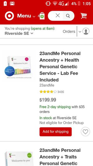 23and me ancestry and health for Sale in March Air Reserve Base, CA