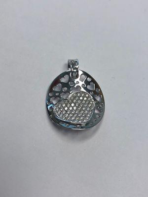 Unique gold and diamond heart pendant for Sale in Covina, CA