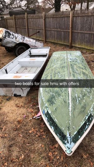 12 foot flat bottom aluminum. 10 foot row boat for Sale in Shamong, NJ