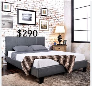 QUEEN BED FRAME AND MATTRESS INCLUDED for Sale in Los Angeles, CA
