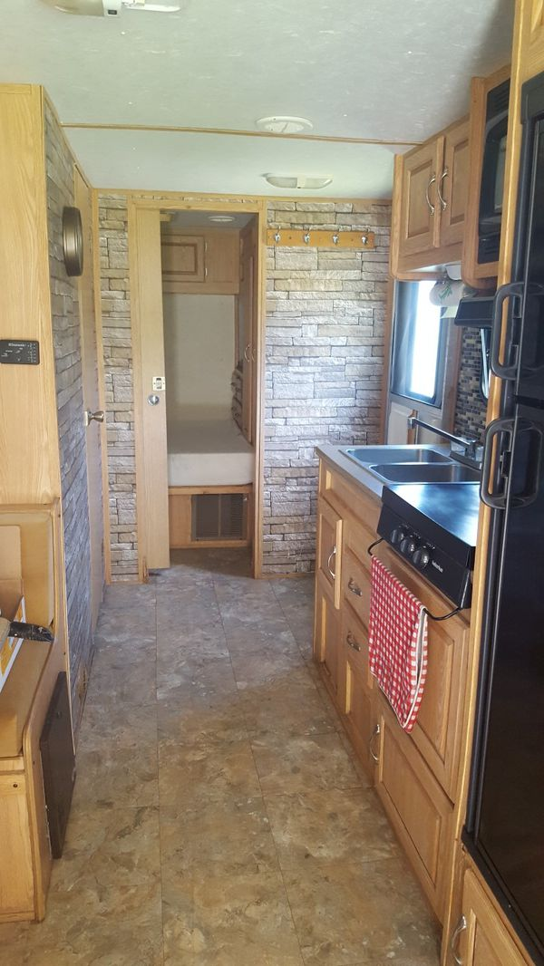 2005 forest river work and play travel trailer/ toy hauler