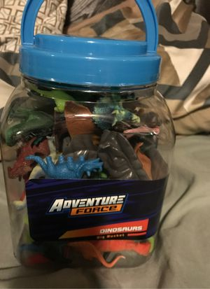 40 piece adventure force Dinosaurs Big Bucket for Sale in San Diego, CA