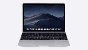 MacBook 12-inch 256GB Space Gray with Leather Sleeve Black and Charger for Sale in Saratoga Springs, NY