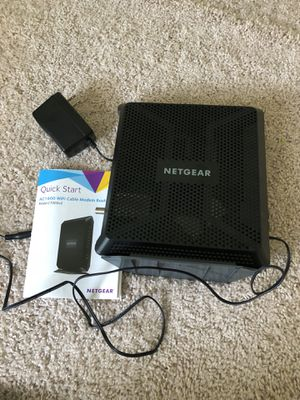 NETGEAR Nighthawk Cable Modem WiFi Router Combo C7000 for Sale in Ashburn, VA