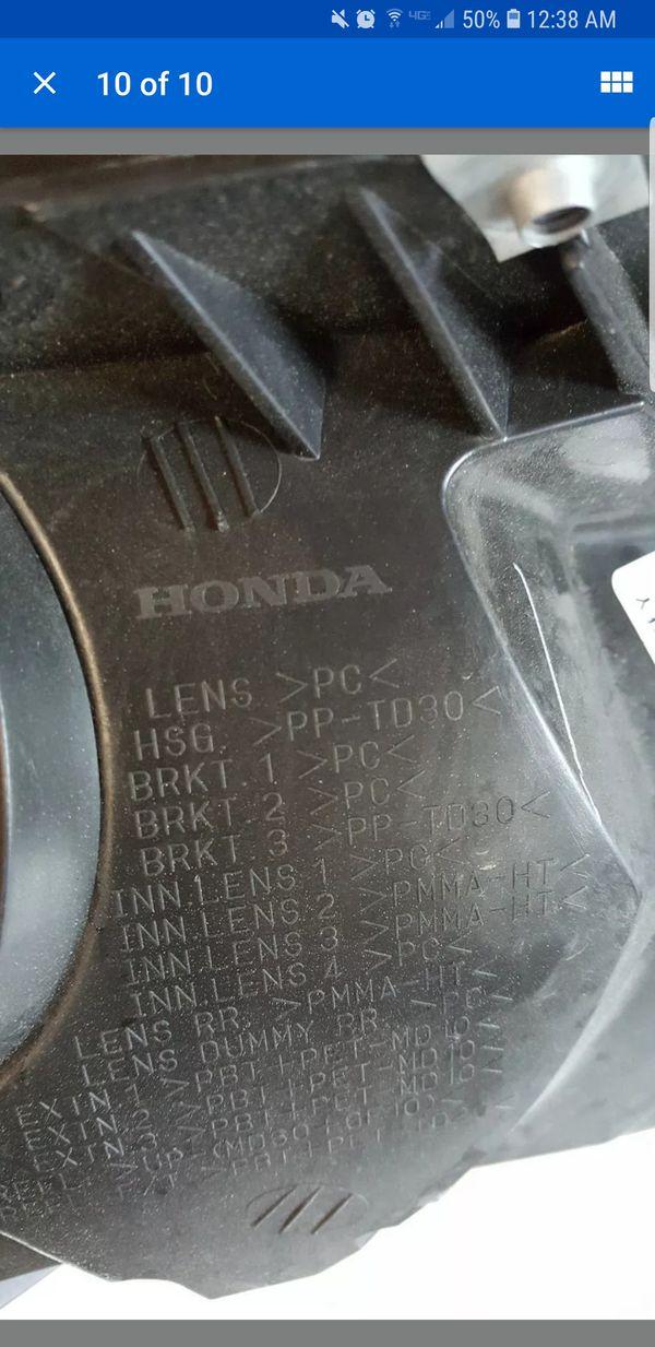 2015-2016 HONDA CR-V TOURING OEM LEFT DRIVER PROJECTOR HEADLIGHT LED