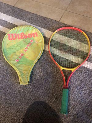 Wilson Rac Attak 23 junior oversized tennis racket w cover for Sale in Las Vegas, NV