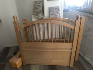 Free twin bed with frame for Sale in Encinitas, CA