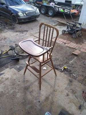 Antique wooden high chair for Sale in Memphis, TN