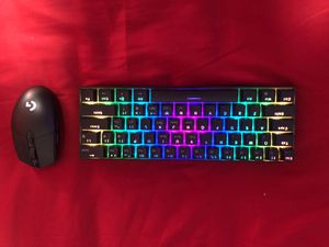 RK 60% with Logitech G305 wireless mouse for Sale in South Gate, CA