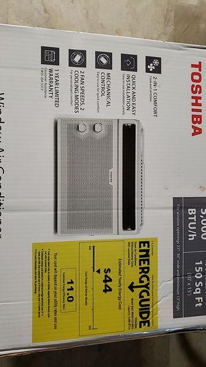 3 Window Air Conditioners, Toshiba, 5,000 BTU, used; Toshiba, 10,000 BTU, used; GE, 8,000 BTU, used for Sale in Hampton, VA