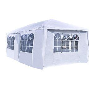 ALEKO APT20X10GAZEBO Outdoor Event Canopy Tent Wedding Party 20 x 10 x 8.5 Feet White for Sale in Kent, WA