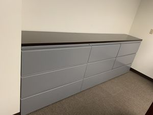 Office filing cabinets with wooden top for Sale in Orlando, FL