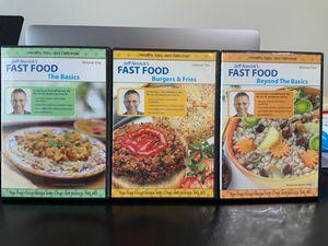 Jeff Novick's Vegan Fast Food, 3 DVD Set for Sale in Everett, WA