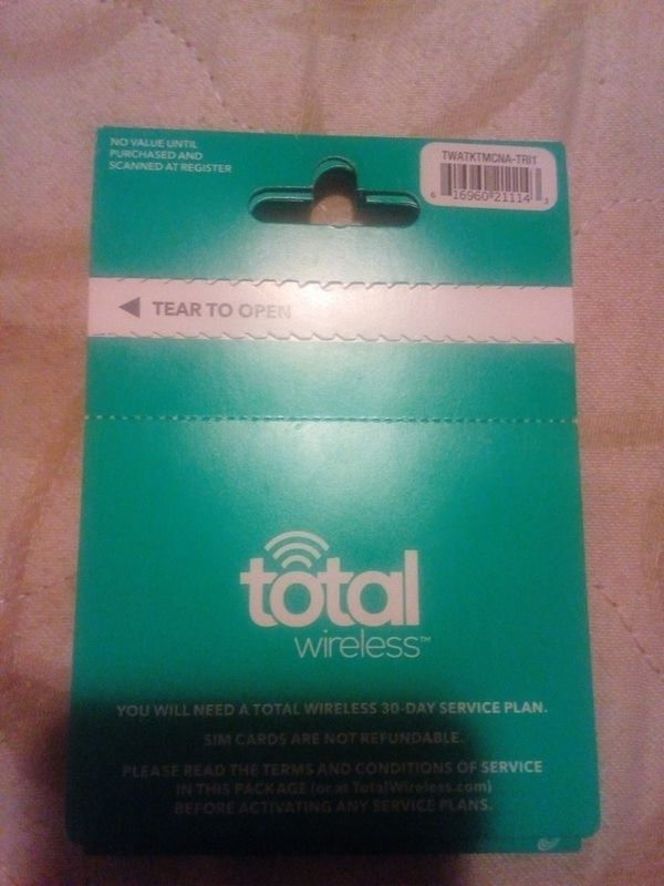 Total Wireless Sim Card New Unopened