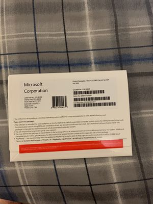 Windows 10 pro with key for Sale in Anaheim, CA