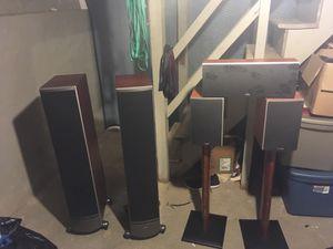 Polk audio stereo 5 pc set and Harmon/Kardon receiver for Sale in Philadelphia, PA