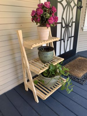 Natural wood plantstand for Sale in Stockton, CA