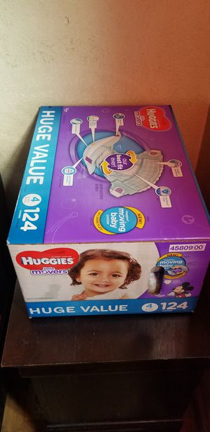 Huggies little movers size 4 124 daipers $32 firm price for Sale in Los Angeles, CA
