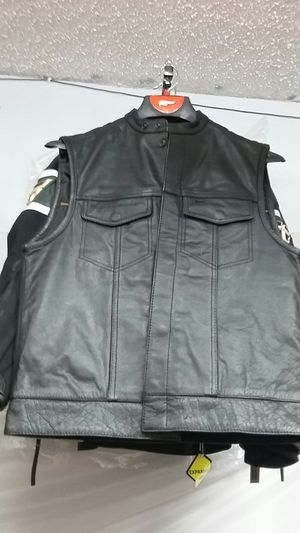 Motorcycle club leather vest for Sale in Los Angeles, CA