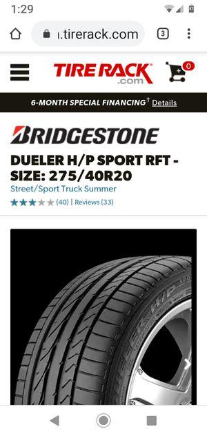 Bridgestone 275 40 r20 1 tire for Sale in Eastvale, CA