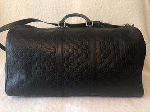 Authentic Leather GUCCI Signature travel bag for Sale in Barrington, IL