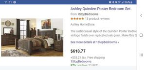 Ashley Quinden Poster Bed frame for Sale in Kennewick, WA