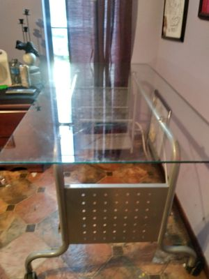 Glass computer desk for Sale in Panama City Beach, FL