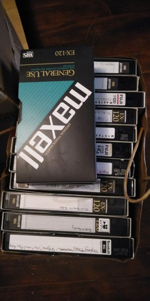 Lot of used recordable vhs tapes for Sale in Lakewood, WA