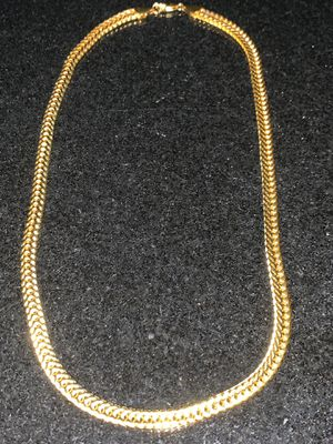 "New 20"" Gold Plated Herringbone 18K Mens/Women's Cuban Chain for Sale in New York, NY"