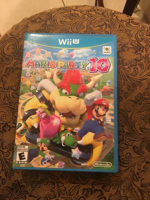 Mario party 10 for Wii U for Sale in Pompano Beach, FL