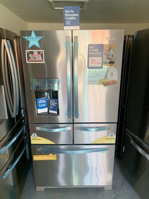 ‼️NEW 5 DOOR REFRIGERATOR ‼️💲50 DOWN PAYMENT ‼️WE DELIVER ‼️📣🚫🔌🚨 for Sale in Colton, CA