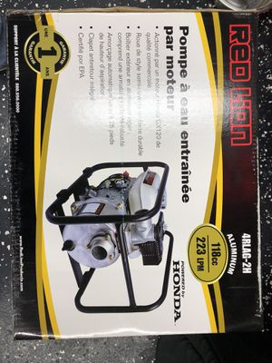 Red lion Honda engine driven water pump $300 FIRM its brand new for Sale in Lexington, NC