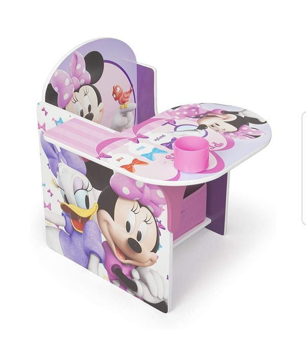 Children Chair Desk Kids Storage Bin Minnie Mouse Disney Daisy Duck Pink BRAND NEW
