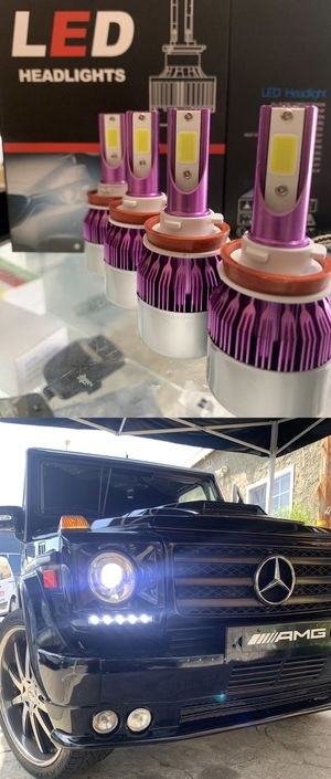 Led headlights 25$ 1 year warranty plug and play free license plate LEDs with purchase for Sale in Vernon, CA