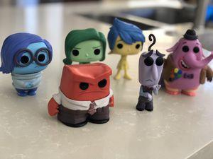 Funko Pop Disney Pixar Inside Out Lot Sadness Joy Anger Fear Disgust Bing Bong for Sale in Princeton, FL